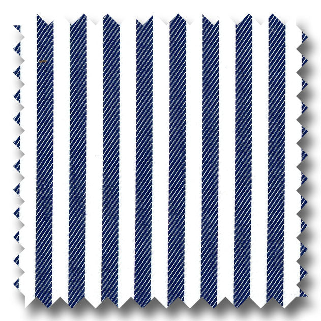 Navy Stripe 2Ply Twill - Custom Dress Shirt