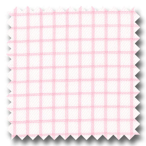 Pink Check 2Ply Twill - Custom Dress Shirt