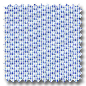 Blue Stripe 2Ply Pinpoint - Custom Dress Shirt