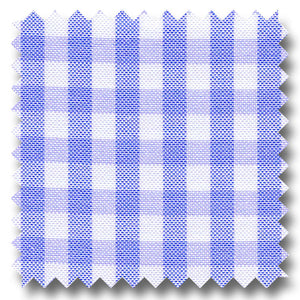 Blue Check 2Ply Pinpoint - Custom Dress Shirt