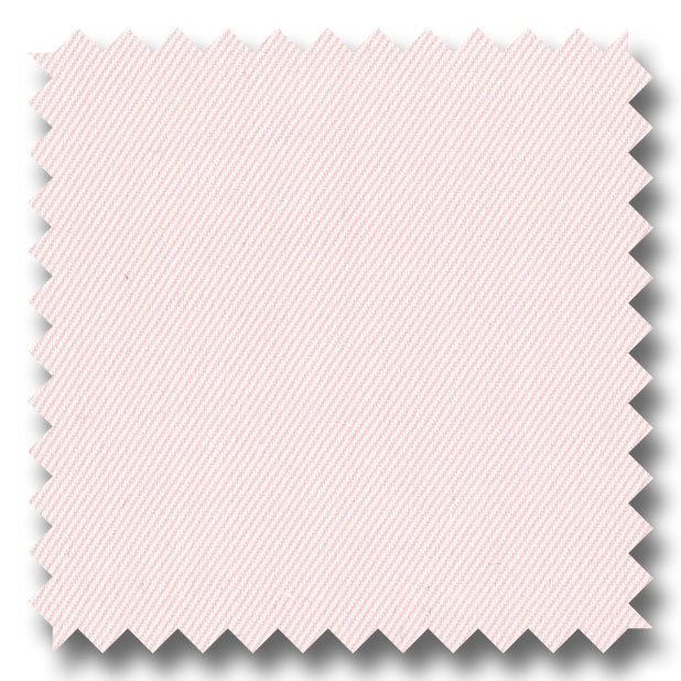 Pink Solid 2Ply Twill  - Custom Dress Shirt