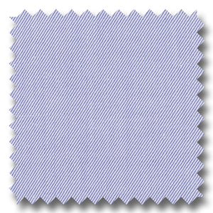 Blue Solid 2Ply Twill  - Custom Dress Shirt