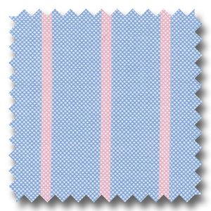 Blue and Pink Stripe 2Ply Panama - Custom Dress Shirt