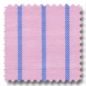 Pink and Blue Stripe 2Ply Panama - Custom Dress Shirt