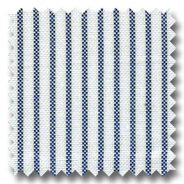 Blue Stripe 2Ply Panama - Custom Dress Shirt