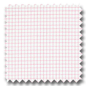 Pink Check 2Ply Dobby - Custom Dress Shirt