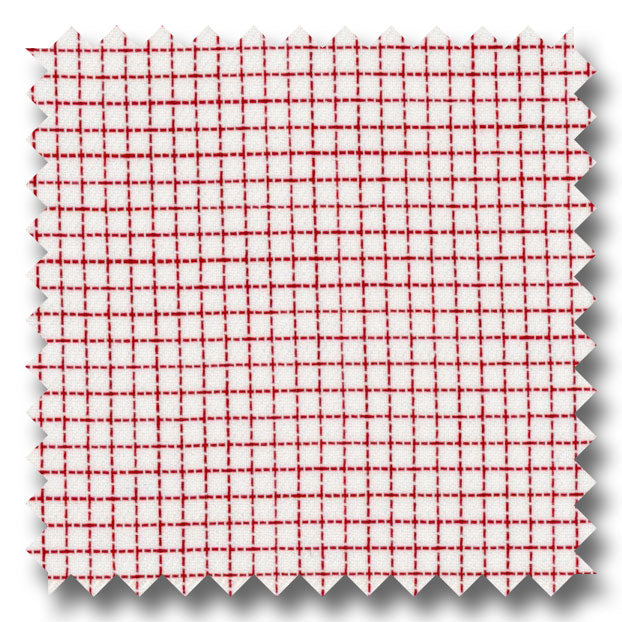 Red Check 2Ply Dobby - Custom Dress Shirt