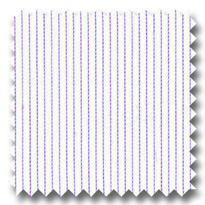 Lavender Pinstripe 2Ply Dobby - Custom Dress Shirt