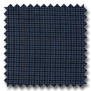 Dark Blue with Rust 100% Wool