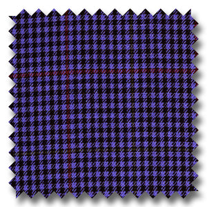 Dark Blue with Red Houndstooth 100% Wool