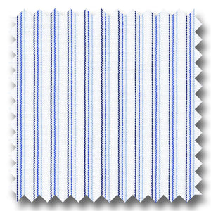 Navy and Blue Stripe 140 2Ply Broadcloth - Custom Dress Shirt