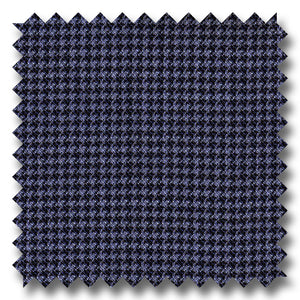 Blue Houndstooth 100% Wool