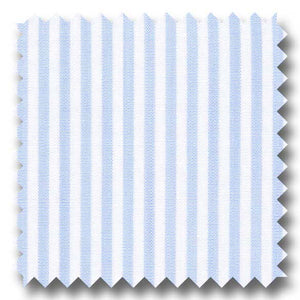 Light Blue Stripe 2Ply Broadcloth - Custom Dress Shirt