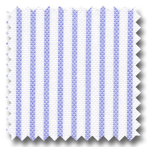 Light Blue Stripe 2Ply Royal Oxford - Custom Dress Shirt