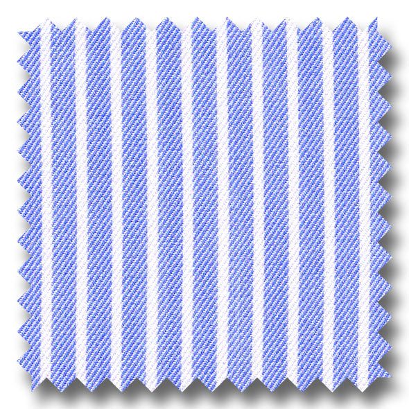 Light Blue Stripe 2Ply Twill - Custom Dress Shirt