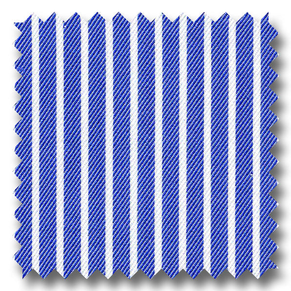 Blue Stripe 2Ply Twill - Custom Dress Shirt