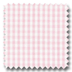 Light Pink Check 2Ply Broadcloth - Custom Dress Shirt