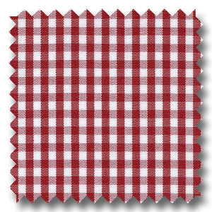 Red Check 2Ply Broadcloth - Custom Dress Shirt