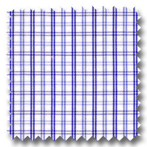 Blue and Navy Check 2Ply Broadcloth - Custom Dress Shirt