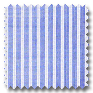 Light Blue and Dark Blue Stripe 2Ply Broadcloth - Custom Dress Shirt
