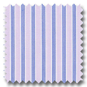 Pink and Blue Stripe 2Ply Broadcloth - Custom Dress Shirt