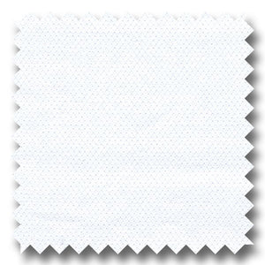 White on White Diagonal Pique 140 2Ply - Custom Dress Shirt