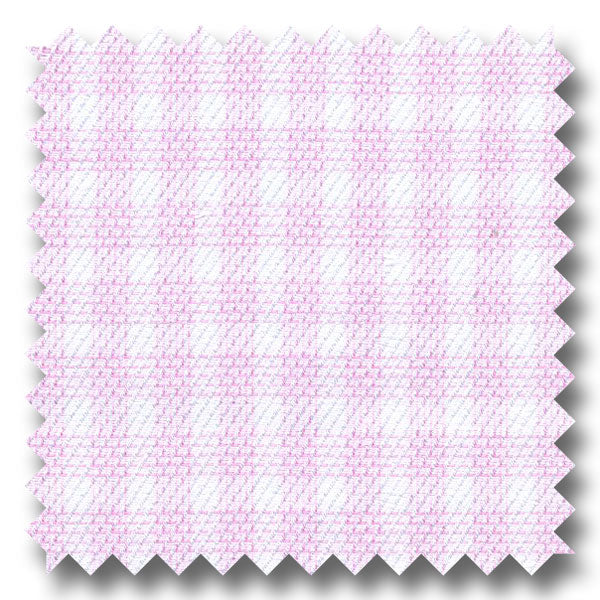 Pink Check 140 2Ply Twill - Custom Dress Shirt