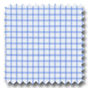 Light Blue Check 140 2Ply Royal Oxford - Custom Dress Shirt