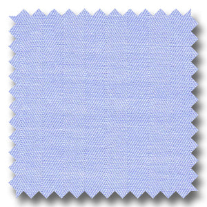 Light Blue Solid 2Ply Mini Herringbone - Custom Dress Shirt