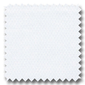 White on White Diagonal Pique 2Ply - Custom Dress Shirt