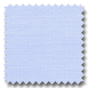 Blue on Blue Mini Herringbone 2Ply - Custom Dress Shirt