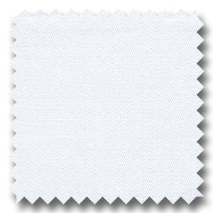 White on White Mini Herringbone 2Ply - Custom Dress Shirt