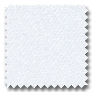 White on White Twill 2Ply - Custom Dress Shirt