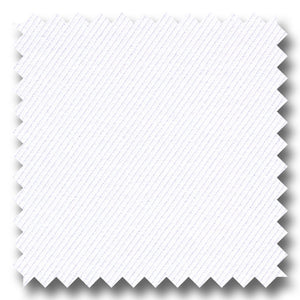 White Solid 2Ply Twill - Custom Dress Shirt