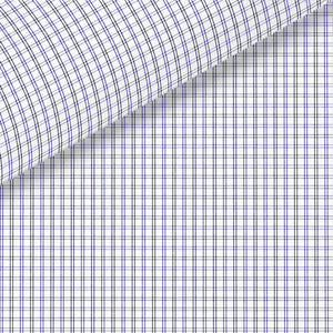Blue and Black Check Meander 71 Broadcloth Dress Shirt