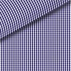 Navy Blue Check Broadcloth Dress Shirt