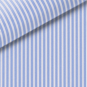 Blue and Navy Stripe Broadcloth Dress Shirt