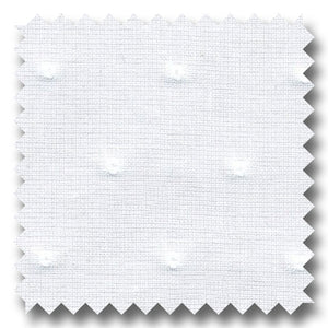 Dotted Swiss White - Custom Dress Shirt
