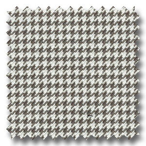 Gray and White Houndstooth Check Super 120s Wool & Cashmere Custom Sport Coat