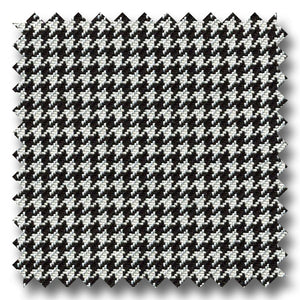 Black and White Houndstooth Check Super 120s Wool & Cashmere Custom Sport Coat