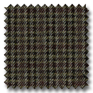 Brown and Light Brown Check 100's Twist Lambswool Custom Sport Coat