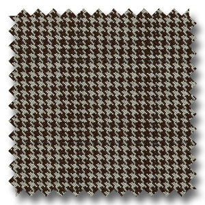 Brown and Tan Houndstooth Check 100's Twist Lambswool Custom Sport Coat