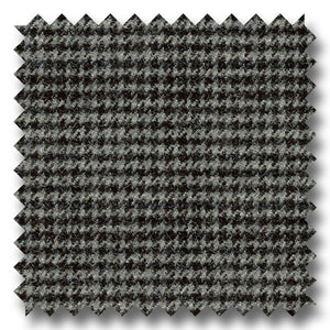 Gray and Black Houndstooth Check 100's Twist Lambswool Custom Sport Coat