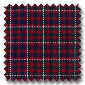Red and Navy Check Twill - Custom Dress Shirt