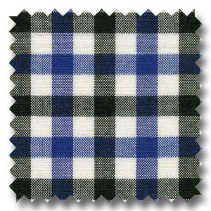 Black and Blue Check Poplin - Custom Dress Shirt