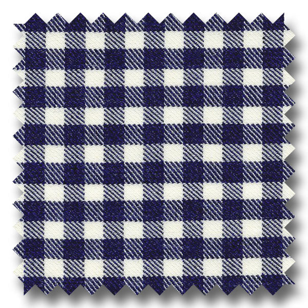 Navy Check Twill - Custom Dress Shirt