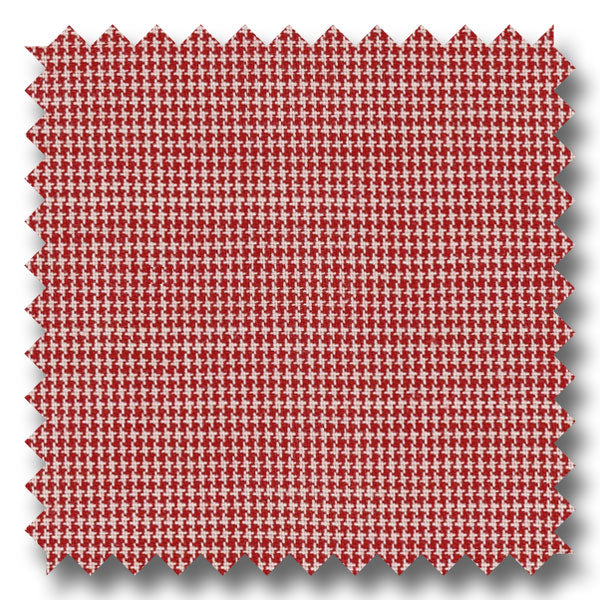 Red and Cream Check Broadcloth - Custom Dress Shirt