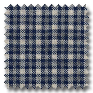 Gray and Navy Check Twill - Custom Dress Shirt