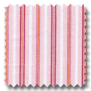 Tone and Tone Stripe Pink and Peach - Custom Dress Shirt