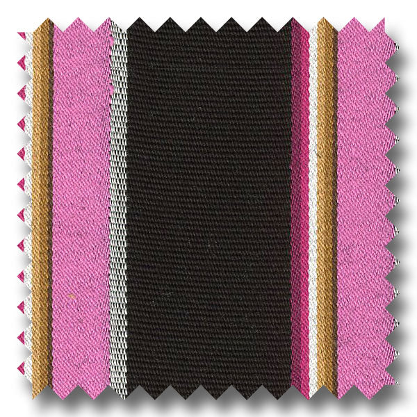 Tone and Tone Stripe Bright Pink, Black and Multiple - Custom Dress Shirt